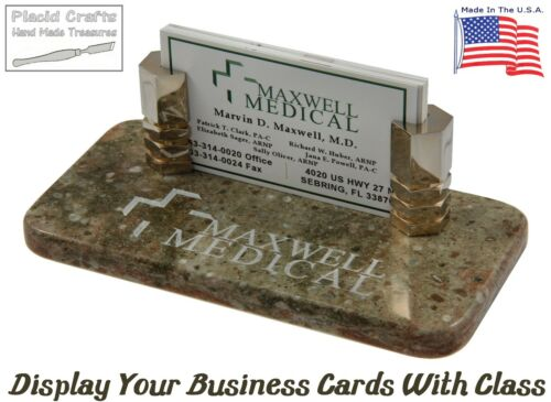 Rosemary Corian #BCH131 Handmade Personalized Business Card Holder