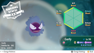 Pokemon Lets Go Shiny Haunter Max 6iv Av Fast Delivery Custom