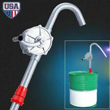 """55 Gal Self-Priming Hand Crank Rotary Drum Barrel Oil Transfer Pump w// 40/"""" Pipe"""