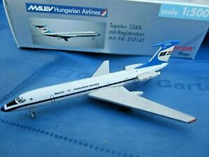 herpa-hungarian-airlines-tupolev-134A-1-500-nr-512145-in-ovp-aus-sammlung