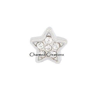 10pc Wholesale Lot Heart CZ Gun Metal Floating Charm Memory Locket Necklace