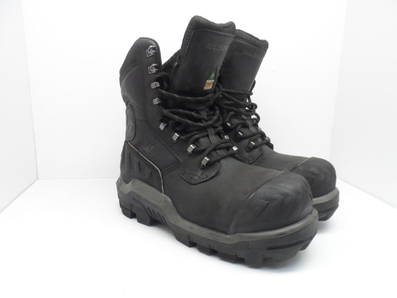 Dunlop Men's 8'' Composite Toe Composite Plate WP Boot DLNA16101 Black 10 Medium