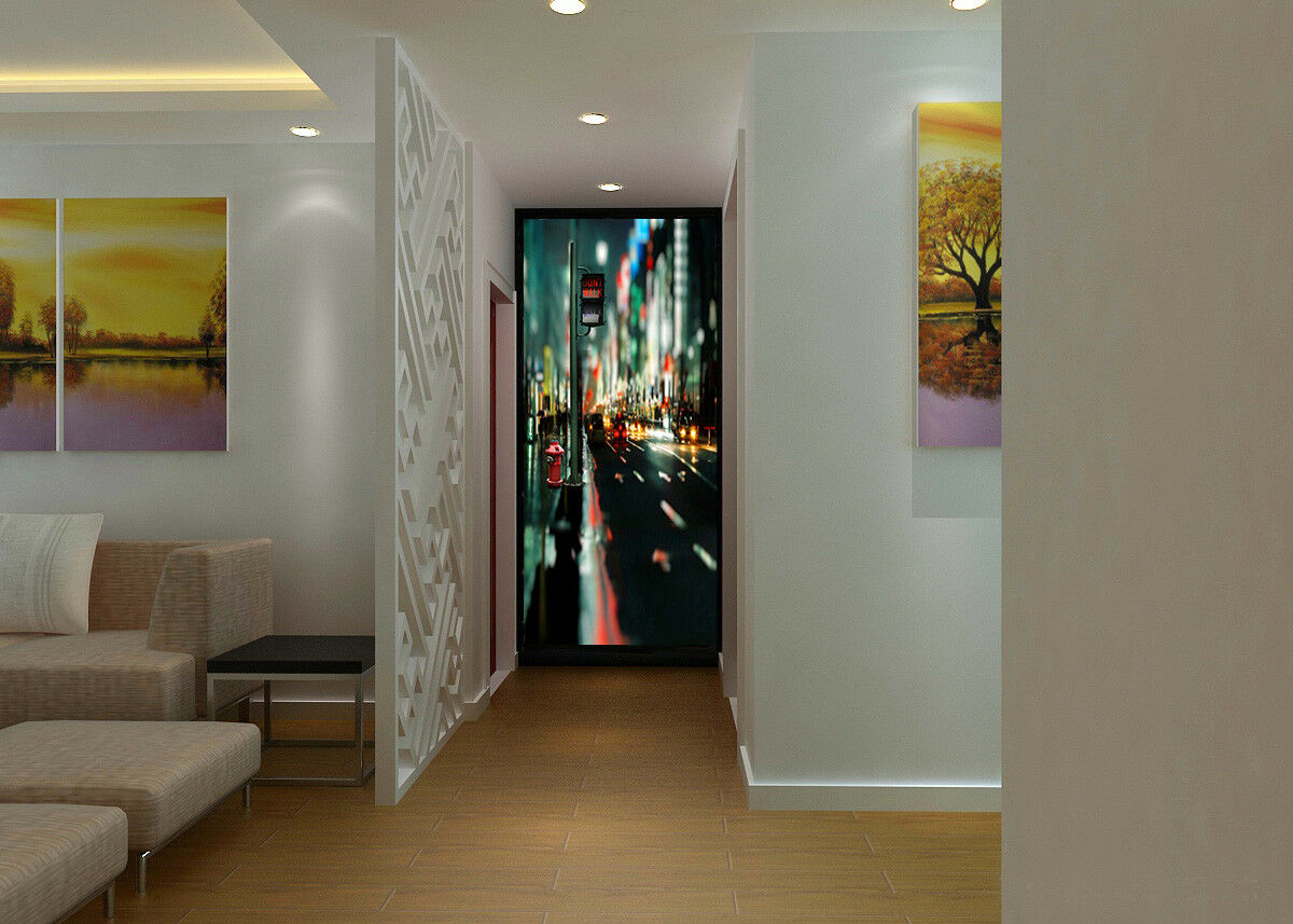 3D City Light 4019 Wallpaper Murals Wall Print Wallpaper Mural AJ WALL AU Kyra