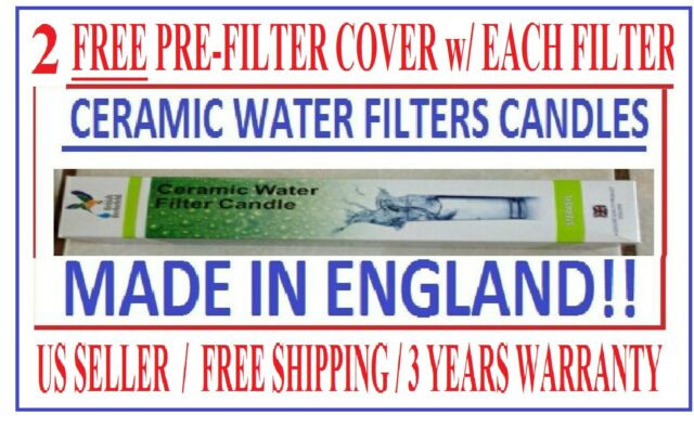 "- Ceramic Water Filter 4 2/""x10/"" Dalton or Royal Replacement Style for Berkey"