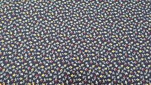 8c6b32592b198 vip cranston small navy floral print fabric cotton 1/2 yd 42