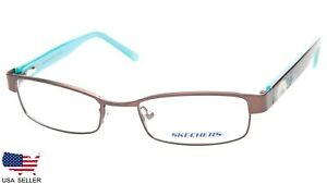 NEW-SKECHERS-Girl-039-s-SK-1502-SBRNTQ-BROWN-EYEGLASSES-GLASSES-47-17-130-B23mm