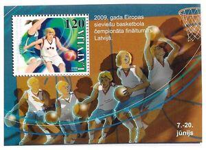 S1817c-Latvija-Lettland-Lettland-2009-MNH-Basketball-S-S