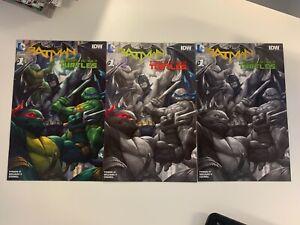 DC BATMAN/TMNT #1 OF 6 :ALL CONQUEST COMICS CVRS :COLOR, COLOR MASKS & GRAY : VF