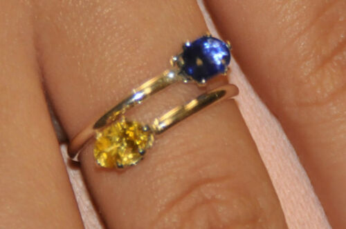 COUPLES BIRTHSTONE RING HANDCRAFTED WITH .925 STERLING AND GENUINE GEMSTONES