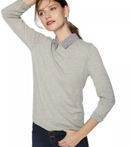collared shirt with sweater womens