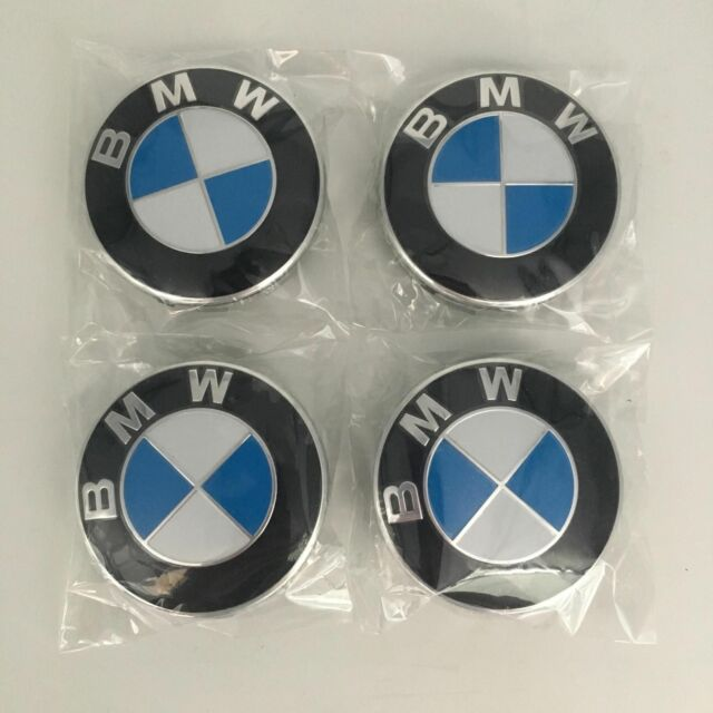 BMW Wheel Caps 68mm 4x Blue /& White Fits E30 318i 3 Series
