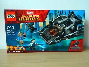 Lego-BLACK-PANTHER-76100-Super-Heroes-L-039-attaque-du-faucon-royal-Collector
