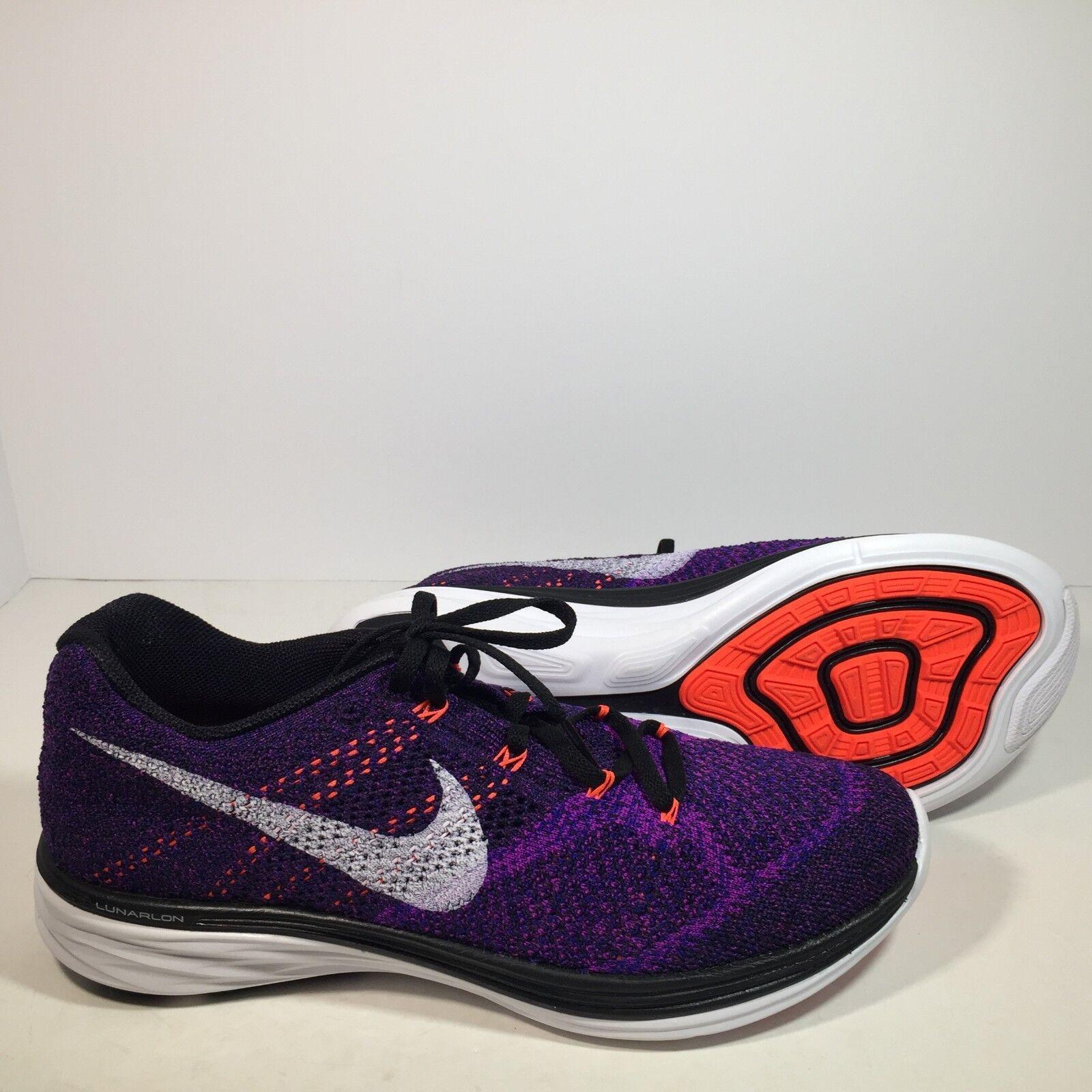 Nike Flyknit Lunar3 Men's Running Shoes 698181-014 Size 10, 10.5