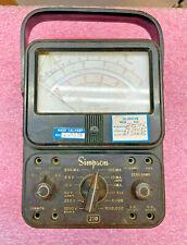 Vintage Simpson 270 Multimeter Used By Nasa Kennedy Space Center 1985 Lockheed