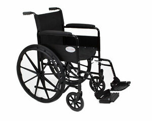 New-Luxury-Folding-Self-Propelled-Wheelchair-Flip-Up-Removable-Footrests