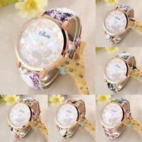 Fashion Womens Ladies Girls Butterfly Leather Dress Analog Quartz Wrist Watches