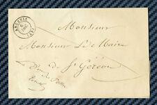 Lettre d'ANCENIS (Loire inf.) avec contreseing du Directeur des Postes - 1847