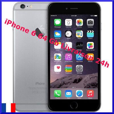 iPhone 6 64 Gris Débloqué tout opérateur EN BON ÉTAT Vendeur PRO GARANTIE
