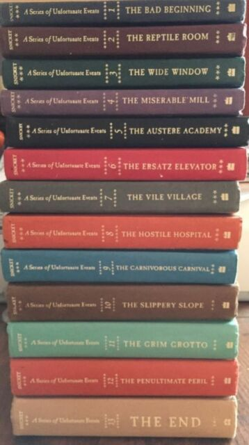 A Series of Unfortunate Events Hardcover Books 1-13 Set Lemony Snicket