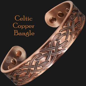 Image Is Loading Men 039 S Pure Copper Magnetic Bracelet Celtic