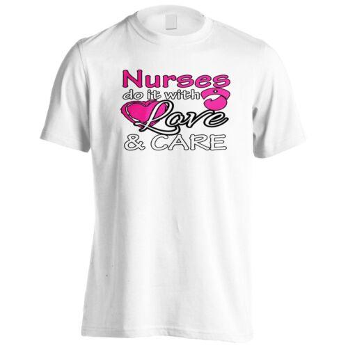Las enfermeras hazlo con amor y cuidado para Hombres Camiseta//Camiseta sin mangas z863m
