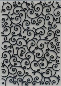 Embossing Folder Flourish Background 10.5cm x 14.5cm