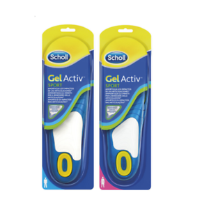 Insoles-Scholl-Gel-Active-Sport-Sport-Insoles-Trainers-Shoes-Man-Woman
