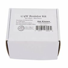 Tolerance Metal Film Resistors Kit Easy Thumb Through Design 1/4 Watts 860 Piece
