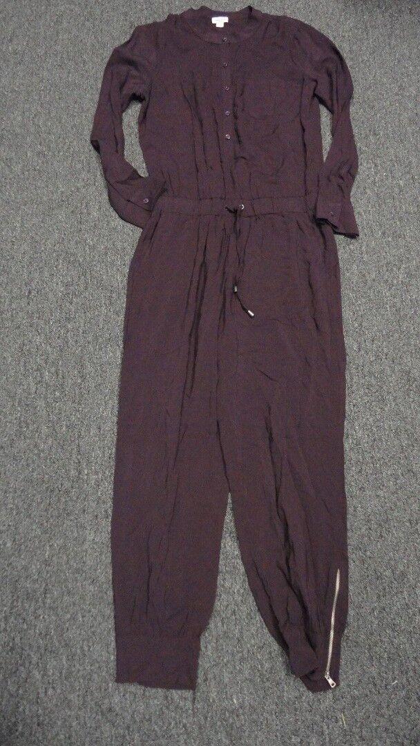 SPLENDID Dark Purple Long Sleeves Casual Solid Jumpsuit NWT Sz M FF9398