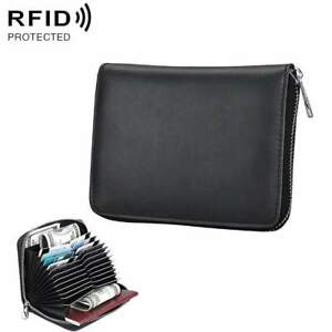 Credit-Card-Holder-Wallet-ID-Anti-Magnetic-RFID-Blocking-Genuine-Leather-Purse