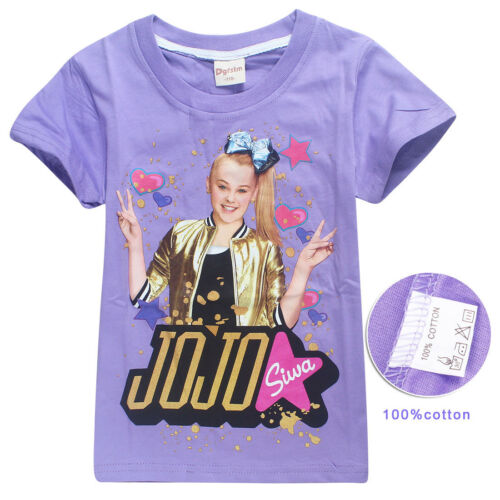 Shirts Trousers Casual Tops Clothes tshirts Girls Jojo siwa Kids JoJo Siwa T