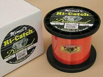 Test 1000 Yd Momoi Hi Catch Diamond mono ligne de pêche 20 lb environ 914.40 m environ 9.07 kg environ 9.07 kg Orange Crush 20 lb