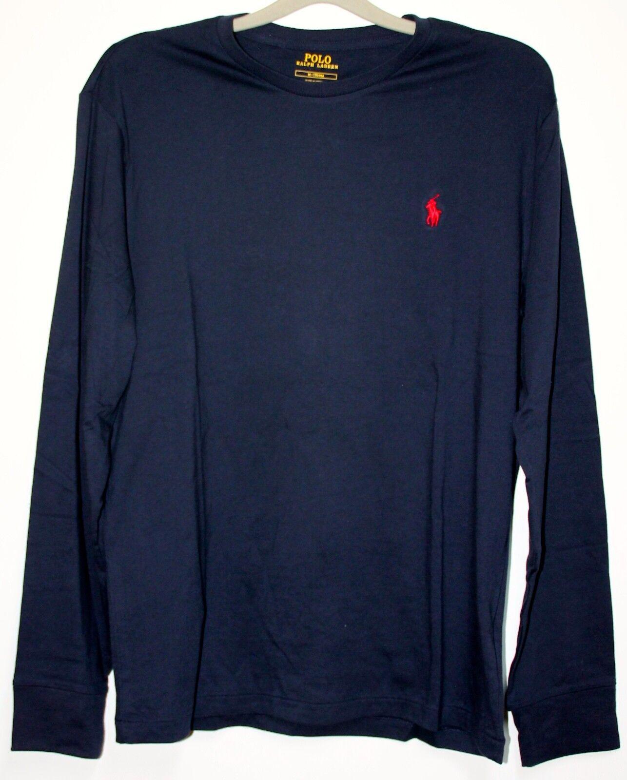 Ralph Lauren Shirt à Manches Longues TAILLE L Ink Bleu Neuf avec Étiquette