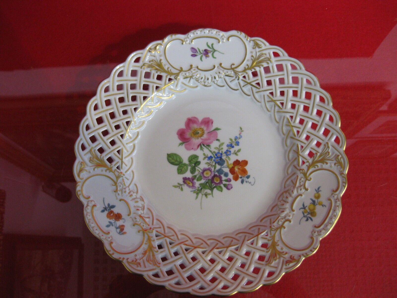 Meissen apparat assiette fleur peinture tableau dissertation or percée apparat Coque 1 choix
