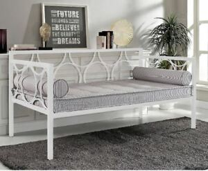 Daybed-Frame-Twin-Metal-White-Day-Bed-Small-Couch-Bedroom-Furniture-Modern-Futon