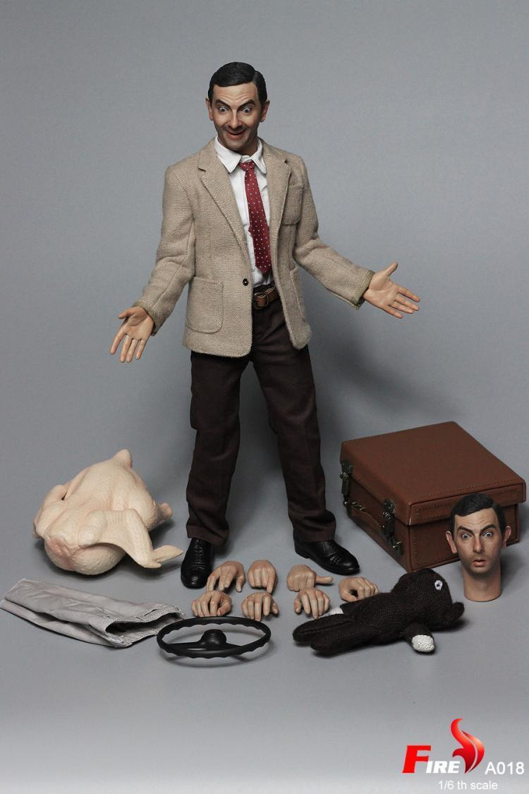 In-stock 1 6 Scale FIRE A018  MR. BEAN Rowan Atkinson 12IN Action Figure