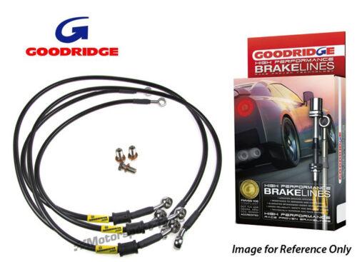 4A C4 Quattro Braided Brake Kit Lines 2.0-2.8 Goodridge For Audi 100 S4