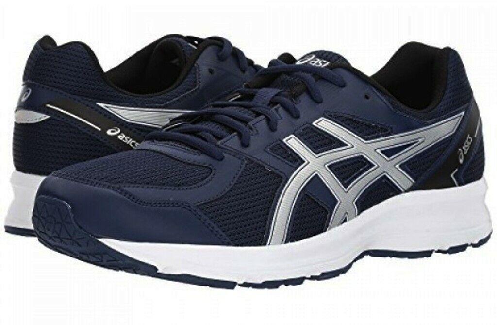 Nuevo Hombres Zapatos De Entrenamiento ASICS JOLT Correr - 15 50.5 euros-Auténtico-Azul