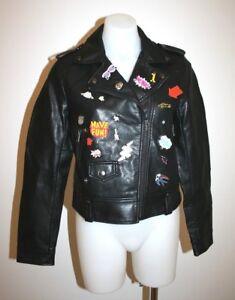 ZARA-black-fitted-leatherlike-jacket-size-M-AU-10-249-NEW