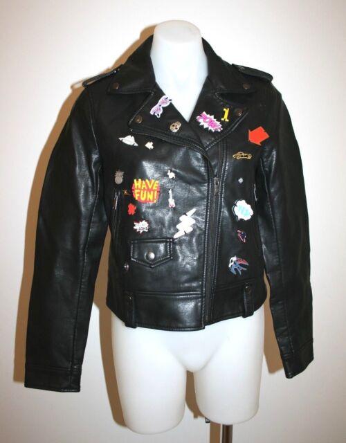 ZARA black fitted leatherlike jacket - size M, AU 10 $249 NEW !