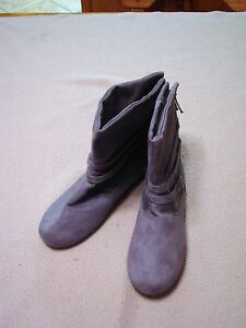 new womens sag harbor gray ankle pull on rubber