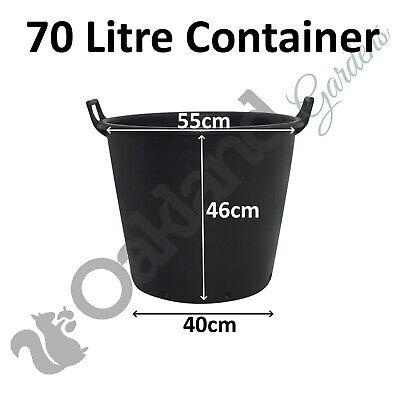 7 x 65 Litre Plant Tree Pot With Handles Heavy Duty 65L Lt Big Large Plastic