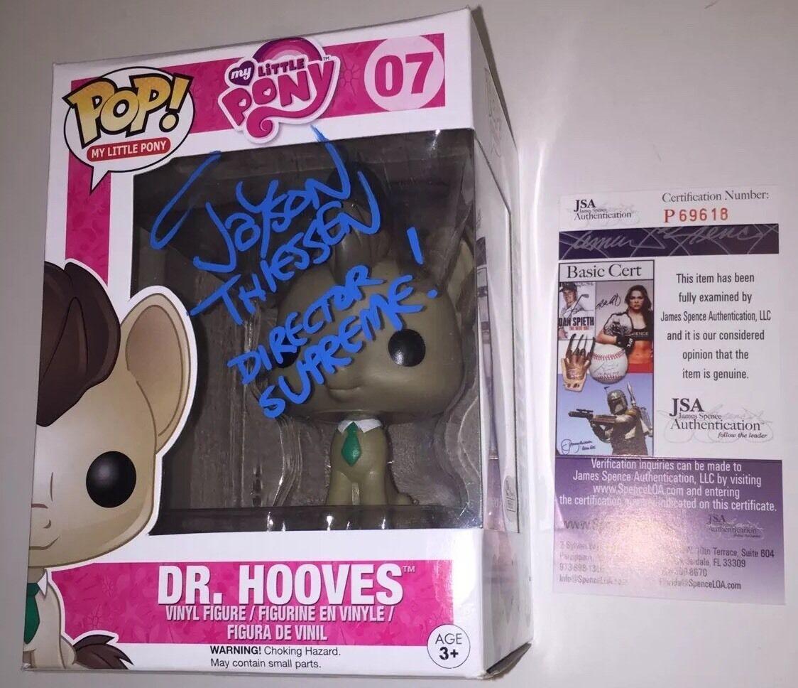 JAYSON THIESSEN signed MY LITTLE PONY Funko POP Figure DR HOOVES DR. PROOF JSA