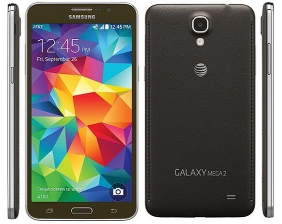 Samsung Galaxy MEGA 2 SM-G750A AT&T UNLOCKED 16GB Black 4G Phone GOOD Condition