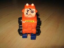 Topper Ding A Lings Robot - Vintage 1970 Orange Black Blue Boxer Motor Plate Toy