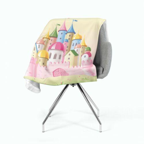 Photo-Snuggle Blanket Princess Castle Printed residential Blanket Fleece Made to Measure