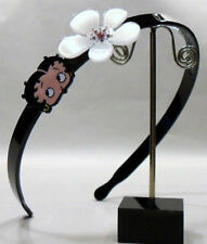 BETTY BOOP-CERCHIETTO-FERMACAPELLI CON FIGURA E FIORE CON SWAROVSKY ROSA