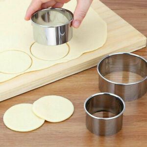 5pcs/Set Round Stainless Steel Cookie Cutters Biscuit DIY Baking Pastry Mold