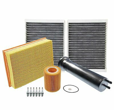 Tune Up Kit Filters /& Spark Plugs for BMW 525i E39 2001-2003