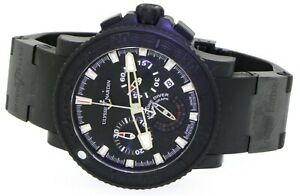 Ulysse-Nardin-Black-Sea-Marine-Diver-353-92-PVD-45mm-auto-chrono-men-039-s-watch